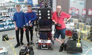 3 robots and 3 crew in Swansea