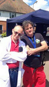 Martin with Mat Irvine