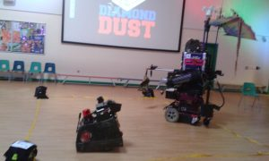 Robot Day in Cardiff with Diamond Dust