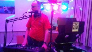 DJ Mart testing new lighting rig.