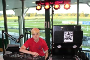 Ethan Gray - DJ Diamond Dust at Chepstow Racecourse.