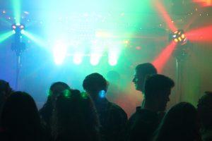 DJ Diamond Dust on a Cardiff gig