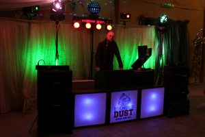 DJ Diamond Dust at a wedding in Mid Wales