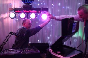 DJ Mart, getting a big hi 5 , from a very happy audience in Llanelli