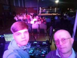 Boxing Event at Cwrt Herbert Leisure Centre, Neath with DJs Ethan Gray and Martin Thompson