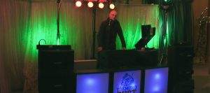 DJ Diamond Dust in a Mid Wales wedding disco
