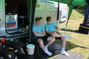 DJ's Ethan Gray and Kelly Jack Roberts at Abergwili, Carmarthen