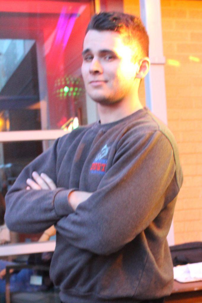 DJ Tom Hyatt at Cardiff Metropolitan University