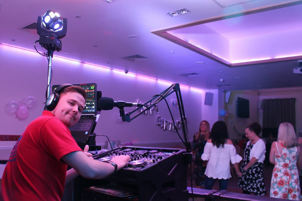 DJ Corey Perrett at The Gowerton Con Club