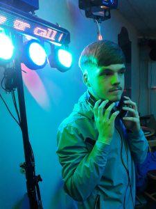 DJ Ethan Grey in Bonymaen RFC