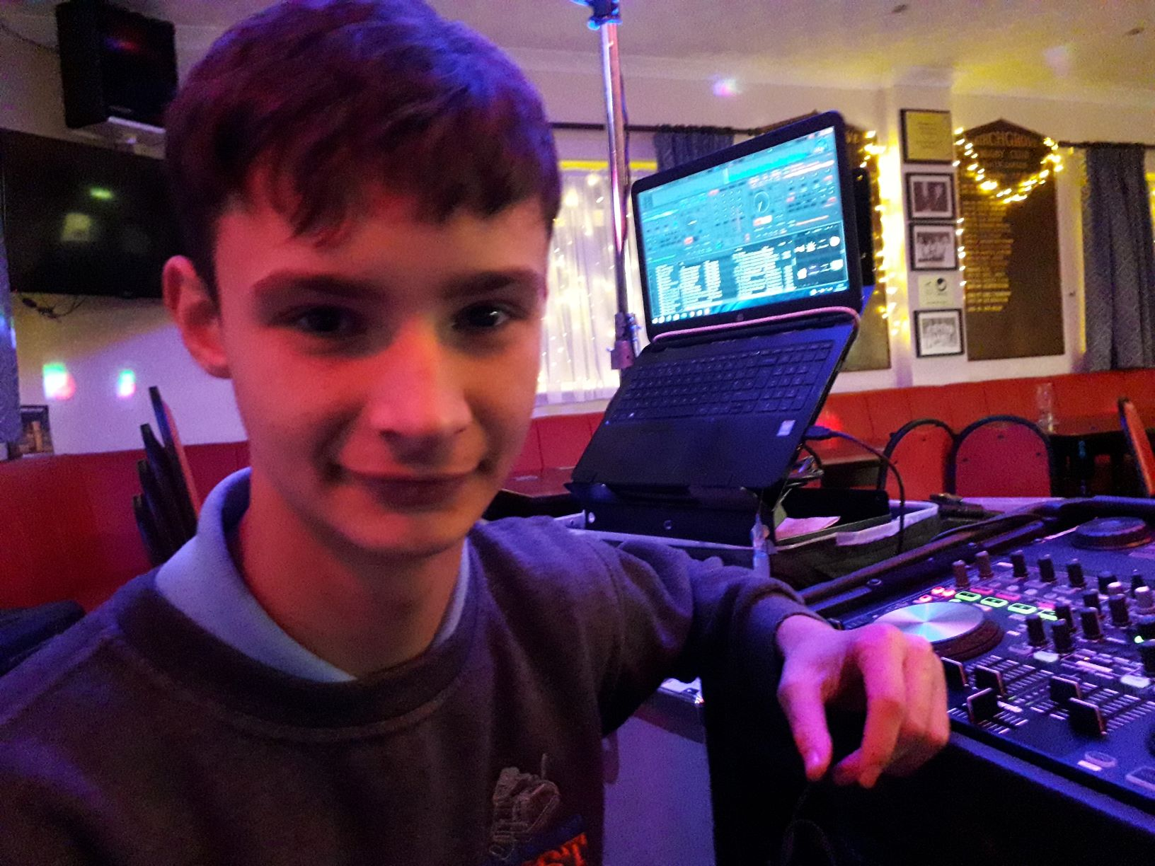 DJ Ollie Edwards at Birchgrove RFC, Swansea