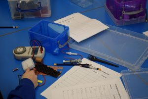 Robot Workshop in a Neath Schools - Testing electrical circuits