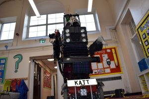 8-Foot-Robot-Cat in a Neath Primary School