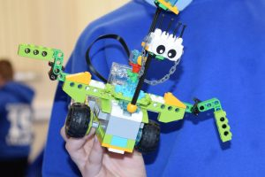 Lego robot made by pupil