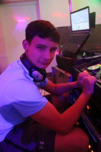 DJ Ollie Edwards in Tenby Disco