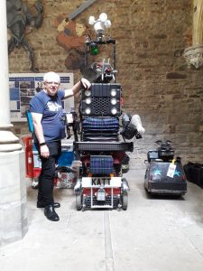 Paul and the 8 Foot Robot Cat at Margam Castle