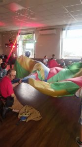 Parachute games in Swansea